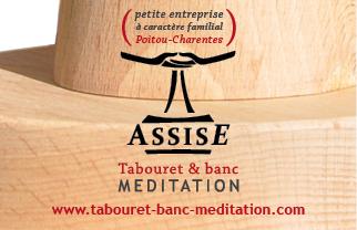 Carte de visite pour salon - Assise meditation